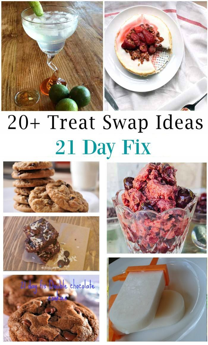 """Treats. They are the key to not feeling deprived on a """"diet,"""" but it's tough to find healthy replacements for your favorite treats. One of the things I love about the 21 Day Fix is that you can easily find healthier treats and swap them out for one of you"""