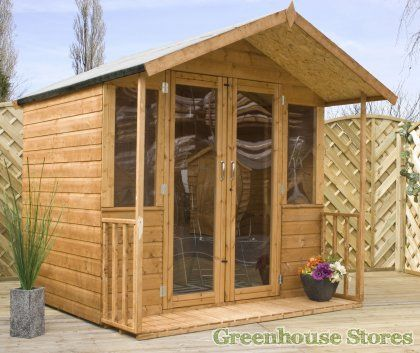 Cotswold 7x7 Summerhouse with Fully Glazed Doors  http://www.greenhousestores.co.uk/Cotswold-7x7-Summerhouse-with-Fully-Glazed-Doors.htm