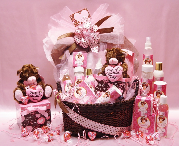 Loving You In Pink Valentines Day Basket Pinterest