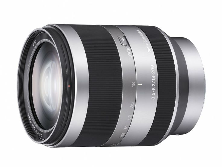 Sony alpha sel18200 e mount 18 200mm f3 5 6 3 oss lens silver at