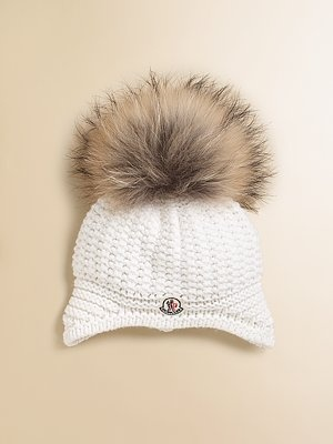 7243f91bd Moncler Toddler s   Little Girl s Fur Pom-Pom Hat
