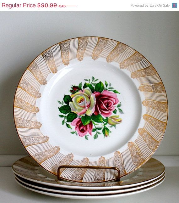 20% SALES DISCOUNT Large Plates Empire Porcelain by EarthsTrove