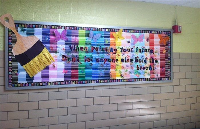 Motivational Art-Themed Bulletin Board Idea