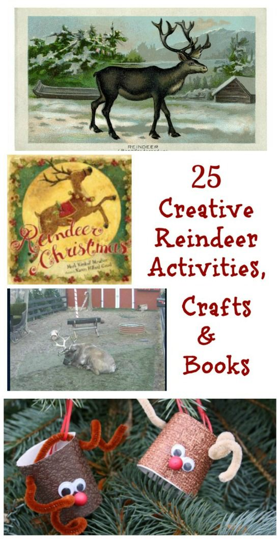 For kids who LOVE reindeer -- a wonderful list of books, crafts & activities for Christmas fun!