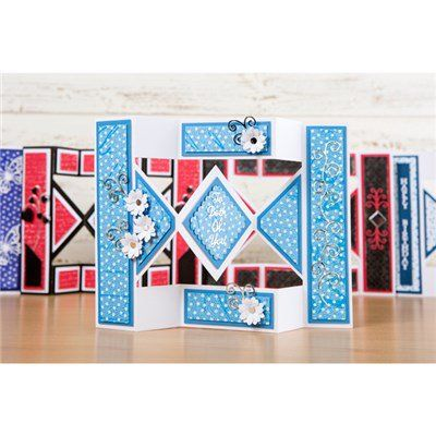 Tattered Lace Essentials Diamond Shutter Card Die (364441) | Create and Craft