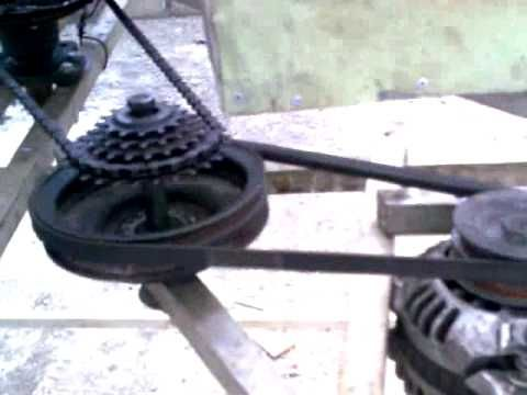 Pinned for pulley system and generator only; not wind turbine