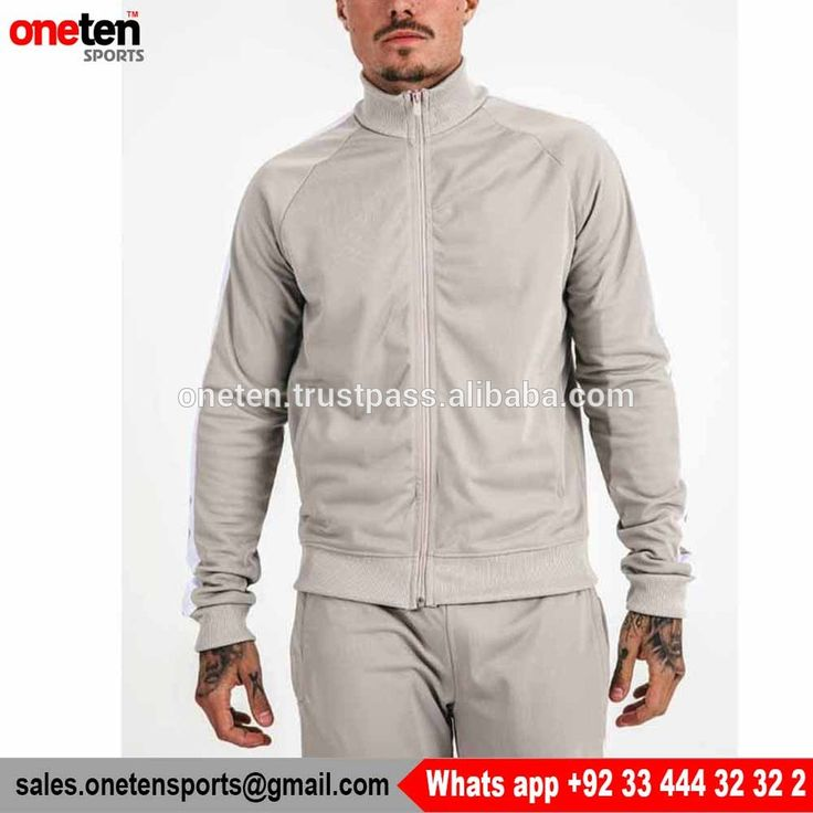 Fitted Tracksuit Zip Jacket For Mens - Men Gym wear