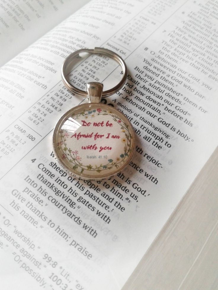 Isaiah 41:10 keyring 'do not be afraid for I am with you' jw gift for jehovah's witnesses by JWcardsandgifts on Etsy