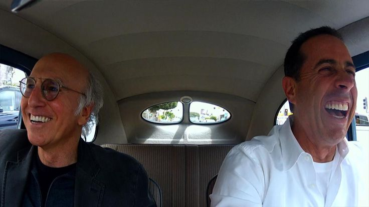 Larry David and Jerry Seinfeld on Comedian in Cars Getting Coffee (Courtesy of Crackle)
