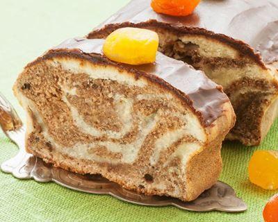 Cake marbré au caramel au beurre salé