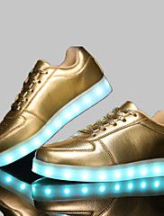LED Light Up Shoes, 4 Color Shoes Unisex Shoes Casual Synthetic Fashion Sneakers Black / White / Silver / Gold – GBP £ 35.81