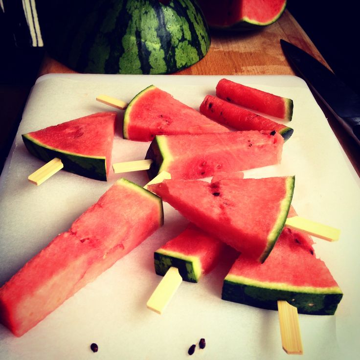 Watermelon lollies - Polos de sandia by Esther Amigo  Summer Verano
