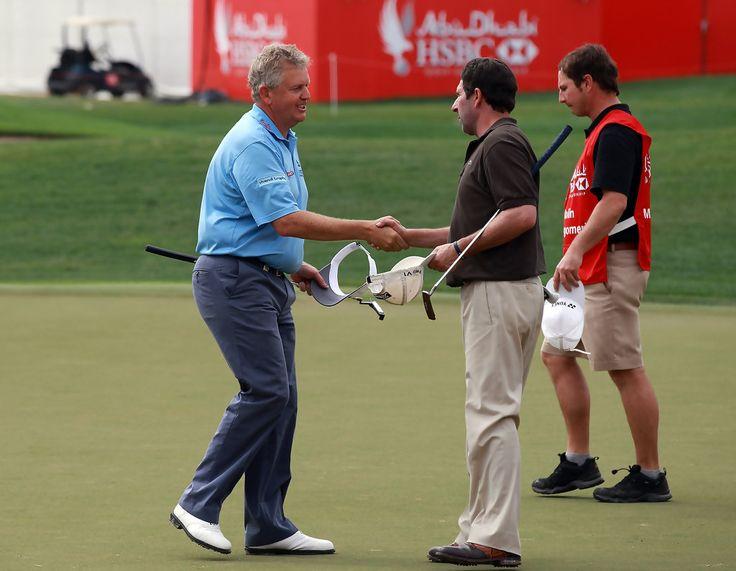 Jose-Maria Olazabal and Colin Montgomerie - Abu Dhabi HSBC Golf Championship - Day Two