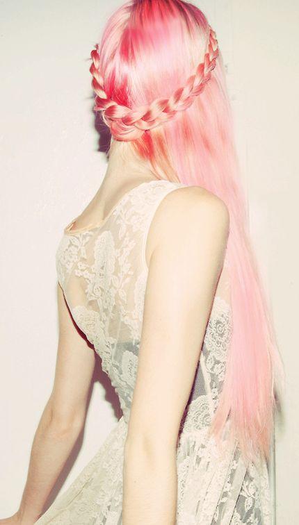 Pink braided...