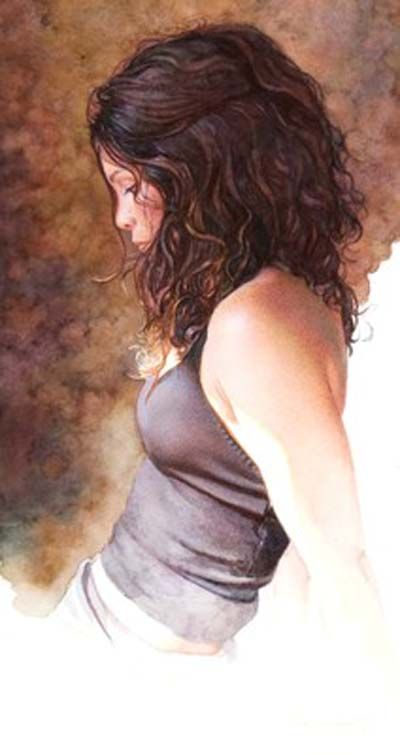 Steve Hanks , Original Watercolor, Leaving Things Unfinished