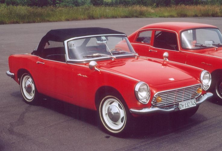 Honda S600 Cabrio:  A lot of people don't know that the Japanese made several sports cars in the '60's, most of which never made it to the U.S. market.  This example is a Honda-built roadster, designed in the classic British sports-car style.