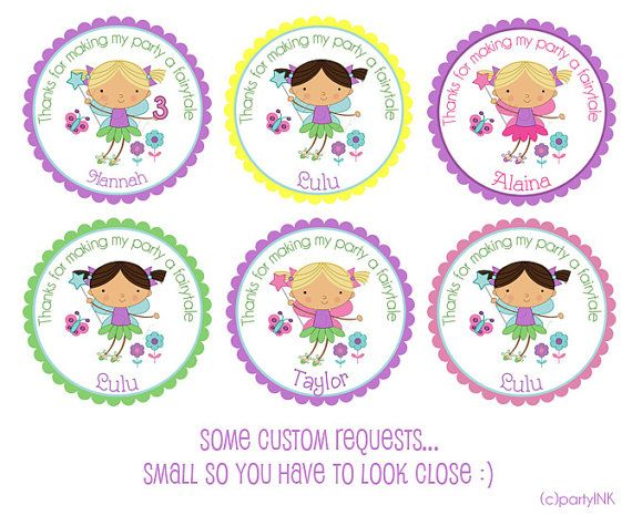 Custom color and design requests using the garden pixie fairy design personalized stickers by partyink interesantas idejas pinterest personalised