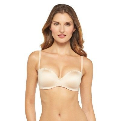 Maidenform Self Expressions Women's's Comfort Convertible Strapless Plunge Bra - Latte 34B
