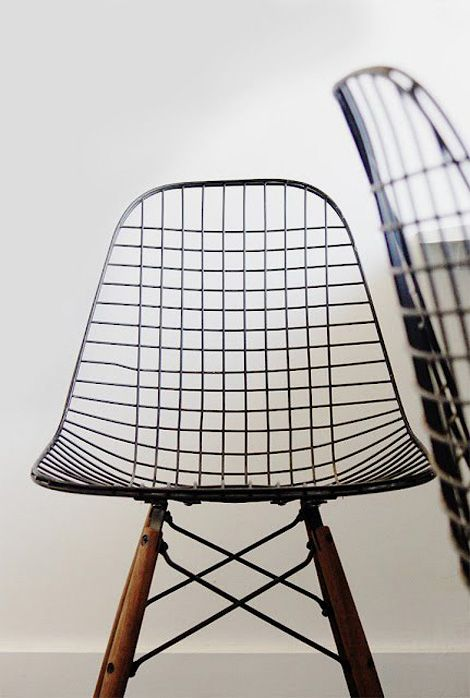 Eames wire chair - nice for the dining room, think you would need a cushion in the summer