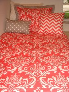 Coral Bedding for guest room