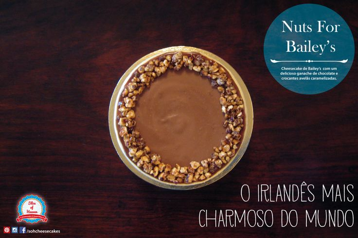 Cheesecake de Bailey's com Avelãs Crocantes -/- Bailey's Cheesecake With Crunchy Hazelnuts