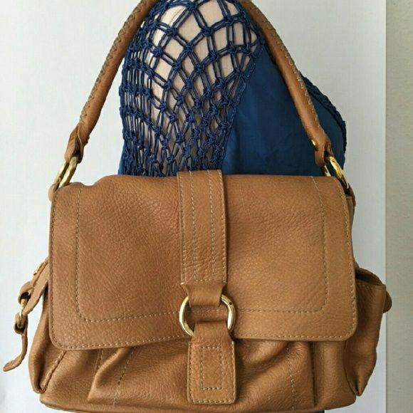 Celine Camel Brown Leather Handbag | Bolsa Celine, Bolsos Marrones ...