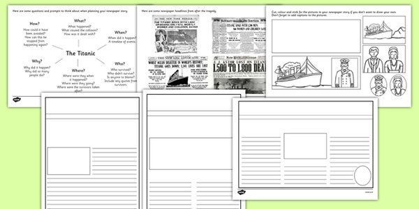 the titanic writing frames and worksheets primary titanic activities titanic worksheets. Black Bedroom Furniture Sets. Home Design Ideas