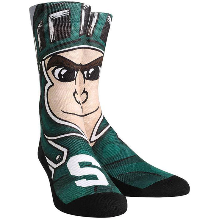 Michigan State Spartans Rock Em Socks Mascot Crew Socks