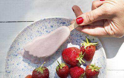 Helado de fresa casero - Frigopie