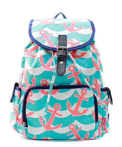 Monogram Back pack/ personalize Anchor backpack/Diaper bag by sewsassybootique on Etsy