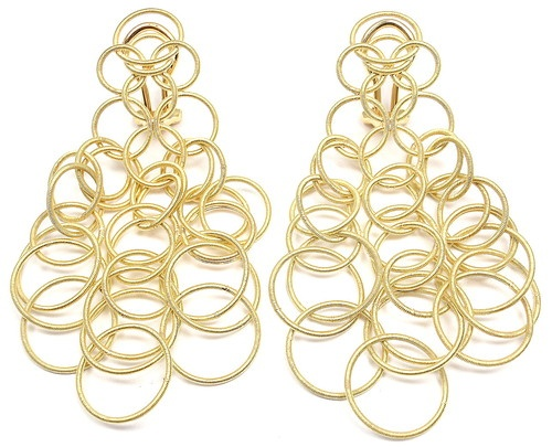 Mint Authentic Buccellati Hawaii 18K Yellow Gold Drop Earrings  | eBay - $5225