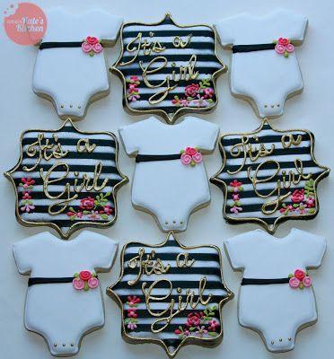 Kate Spade inspired baby girl cookies