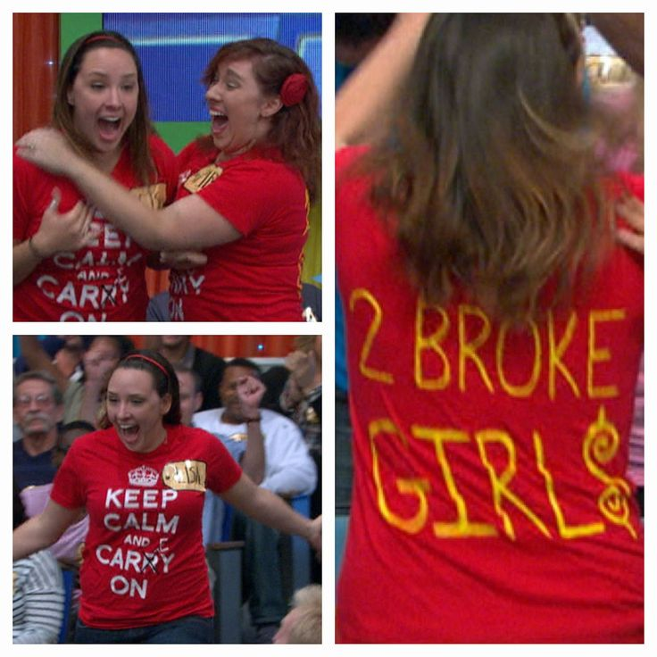 Love this! 2 Broke Girls on #PriceIsRight! Hopefully they walked out not so broke anymore! #TwoBrokeGirls #TshirtTuesday