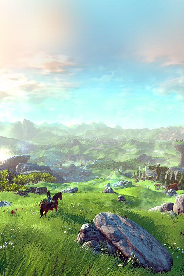 Legend Of Zelda Green Field #iPhone #4s #wallpaper