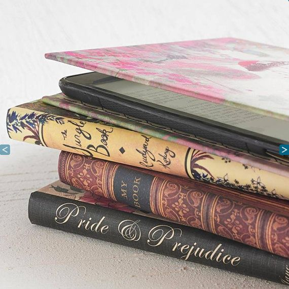 Kindle Cover - Beautiful Handmade Classic Book Case Range for Amazon Kindle, Kobo, Samsung and Nexus eReader and Tablets. By KleverCase on Etsy, £24.95