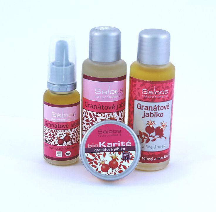 Výrobky z granátového jablka sú určené pre namáhavú, náročnú, suchú a zrelú pleť. Regeneračný pleťový olej revitalizuje a omladzuje pleť. Hydrofilný odličovací olej pôsobí blahodárne na vysušenú a podráždenú pleť. Masážny olej je výborný na relaxačnú masáž a balzam z granátového jablka má protivráskový efekt.