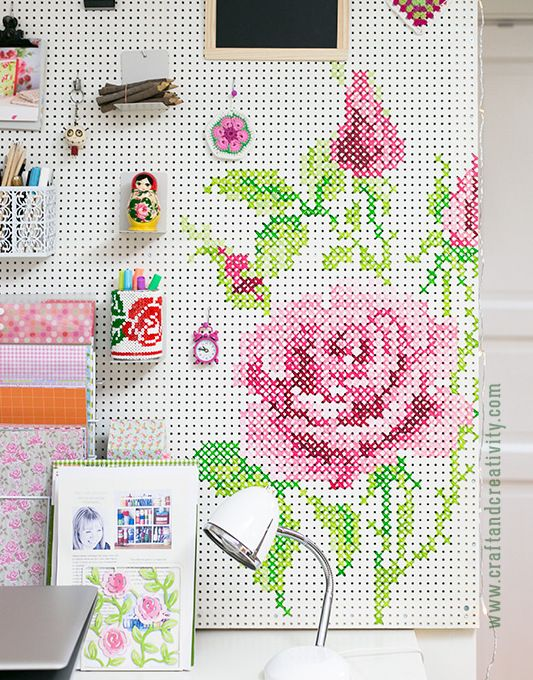 He Takes A Regular Pegboard And Paints It White. The End Result Is A Great Way To Expand Any Space http://www.wimp.com/11-uses-peg-board/