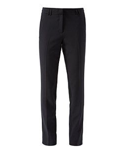 Black (Black) Black Slim Leg Trousers | 311242801 | New Look