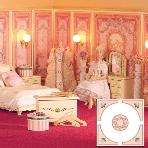 Dollhouse Ceiling Wallpaper: 13 Best Luxury Dolls' House Wallpaper Images On Pinterest