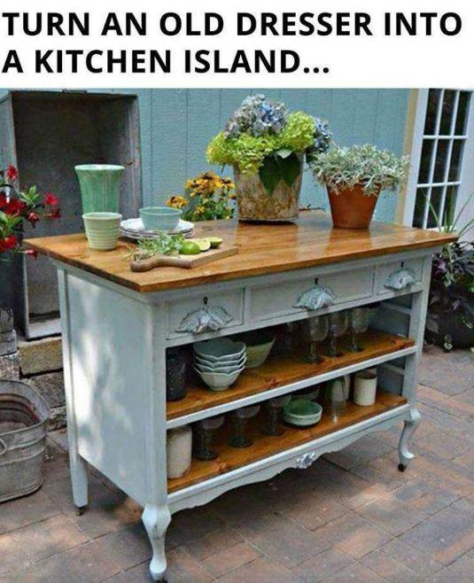 Repurposed Kitchen Island