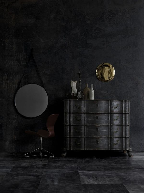 ♂ black interior design, very handsome and exotic.