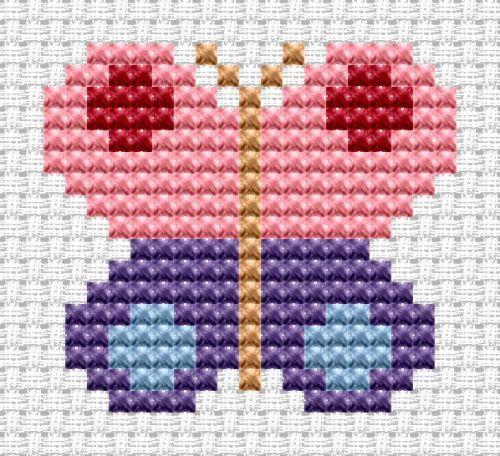 Easy Peasy Butterfly cross stitch kit