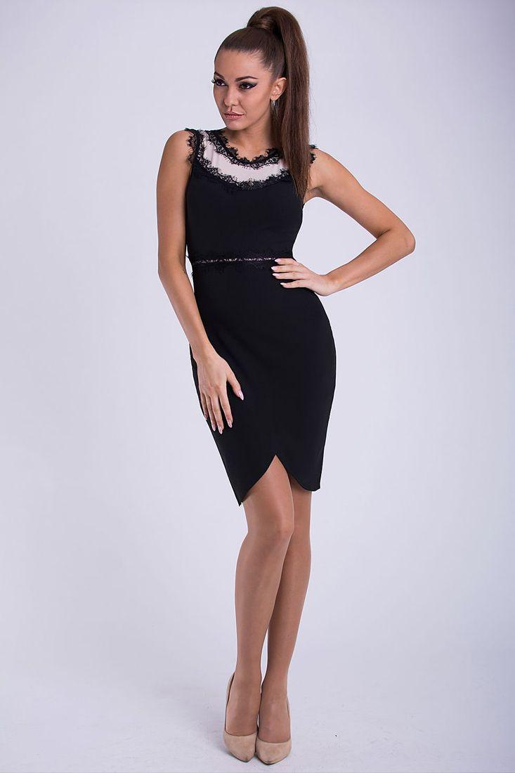 Black and White Lace Trim Dress - Little Black Dresses Johannesburg.