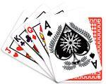 Casino dekoration med kort motiver