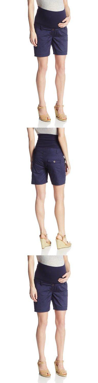JoJo Maman Bebe Women's Maternity Twill Shorts, Navy, 8