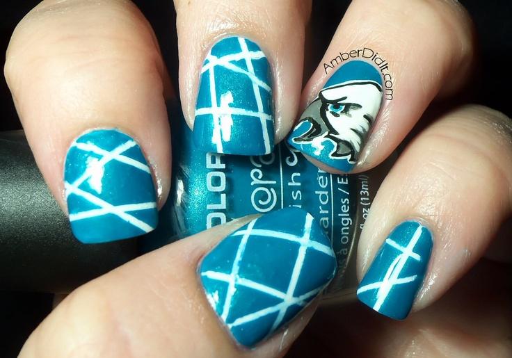 Philadelphia Eagles nail art!