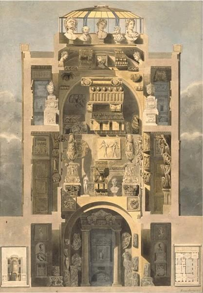 "Sir John Soane, RA Architect (1753-1837) 'Academy of Architecture"" - Museum and Library at No.13 Lincoln's Inn Fields, London WC2"