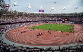 Lontoon olympiastadion vuonna 2012.