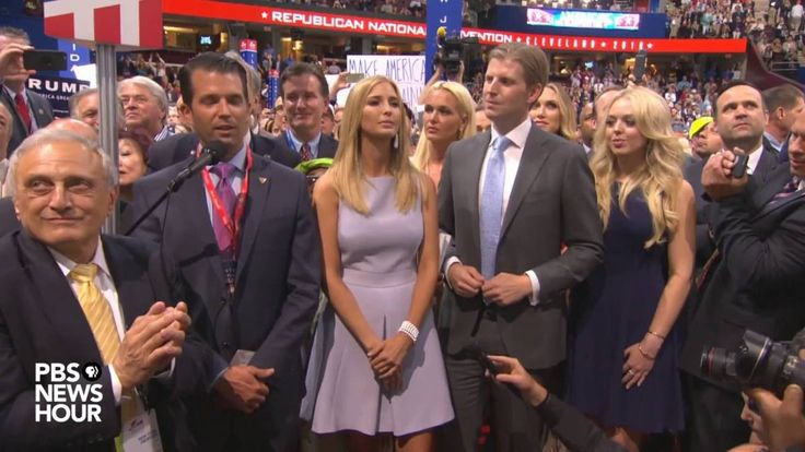 Donald Trump Jr. and New York delegates clinch nomination for Donald Trump at the RNC Convention 2016.