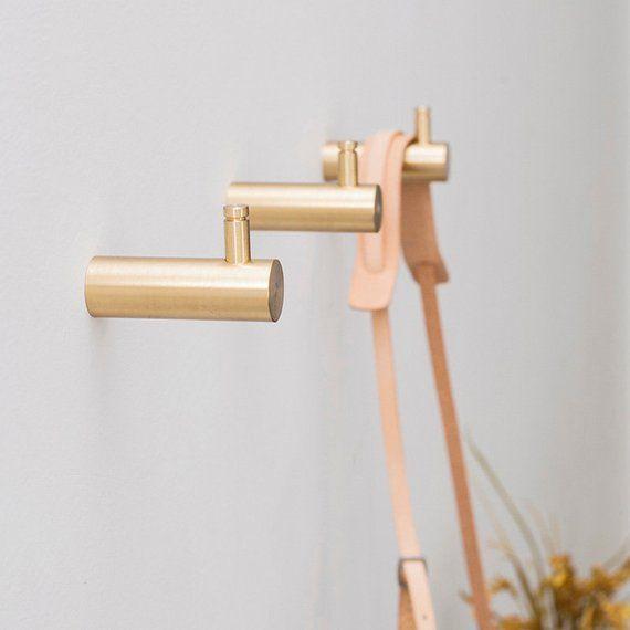 Nordic Creativity Brass Wall Hook Decorative Hook Wall Etsy Brass Wall Hook Decorative Wall Hooks Brass Coat Hooks